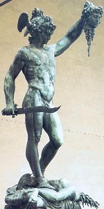 Cellini's Perseus, pre-restoration: front right