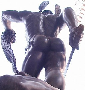 Cellini's Perseus: low back view