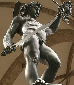 Cellini's Perseus, low front right view