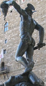 Cellini's Perseus: back left view