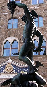 Cellini's Perseus: low left view 1