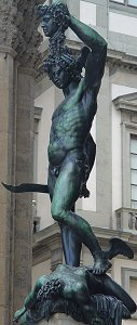 Cellini's Perseus: front left view, very big