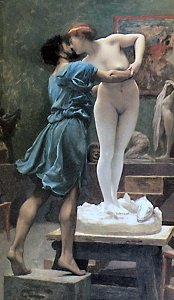 Pygmalion and Galatea (version showing Galatea from the front) by Jean Léon Gérôme