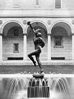 Photographer unknown, Bacchante Installed in Courtyard Pool
