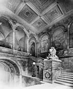 Photographer unknown, Grand Staircase, Boston Public Library