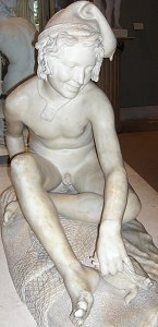 Rude's Fisherboy, Louvre - front view