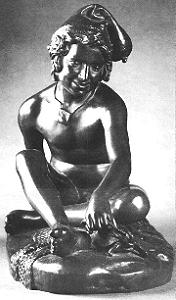 Rude's Fisherboy, bronze statuette - front view