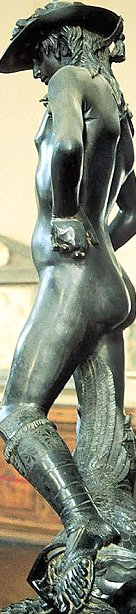 Donatello's David: left side